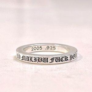 """+CHROME HEARTS SILVER """"F*CK YOU"""" RING+"""